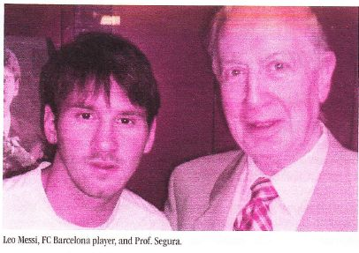 Leo Messi and Prof. Segura Cardona